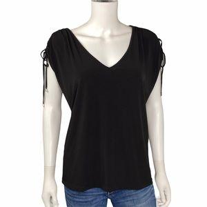 Ivanka Trump Black Cold Shoulder Top Size XL